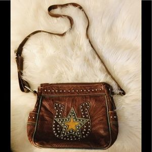 American West crossbody leather bag